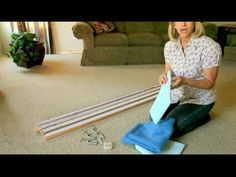 "Making your own portable quilt frame is easy and inexpensive to do, and is simple to set up and simple to store. Supplies: 4 pine boards that measure 1"" x 3""..."