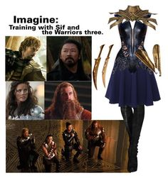 """""""Imagine Training With Sif and the Warriors Three."""" by sidbeak ❤ liked on Polyvore featuring QNIGIRLS"""