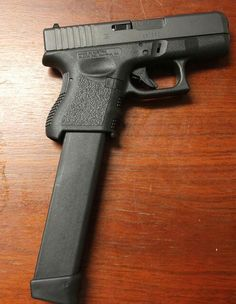 Glock 26 with extended mag.when only 33 rounds will do. Airsoft, Weapons Guns, Guns And Ammo, Arsenal, Fire Powers, Home Defense, Cool Guns, Shotgun, Firearms