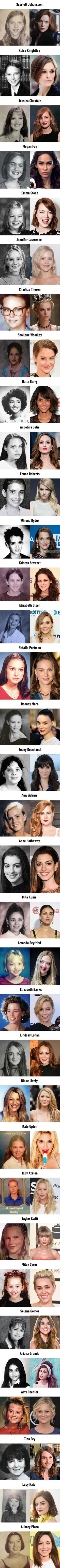Female celebs' yearbook photos