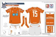 Willian Kit: Carolina Railhawks F. C. - Desafio de Mockups