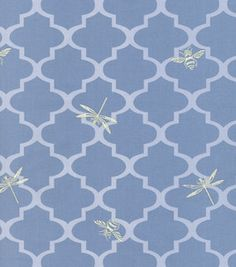Home Decor Upholstery Fabric-Wavery Buzzing About / Blue Sky & upholstery fabric at Joann.com