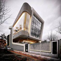 Contemporary House designed by eng. Wood Architecture, Architecture Visualization, Futuristic Architecture, Amazing Architecture, Contemporary Architecture, Timeline Architecture, Different House Styles, Modern Villa Design, Archi Design