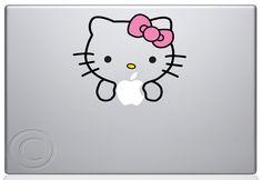 Hello Kitty MacBook Decal Mac Apple Pro Sticker 13 15 by MegaVinyl, $8.95