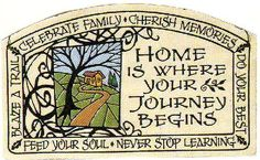 Best advice my mom gave to me: Home is where your journey begins. Blaze a trail. Cherish moments. Feed your soul. Never stop learning. Do your best. And most importantly, Celebrate family. <3