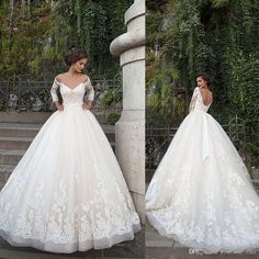 Image result for flowy ball gown wedding dresses