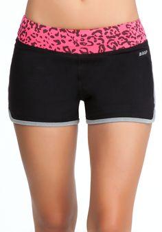 Pink Leopard Print Shorts - Bebe Sport Web Exclusive - N Watermelon Cheetah - S