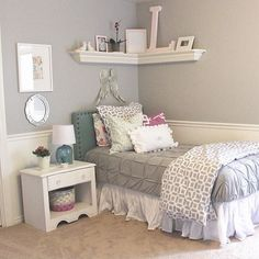 Cute little guest room idea for my niece aly , when she sleeps over !