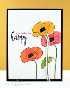 Painted Poppy - Altenew - Stamps on Wish list!