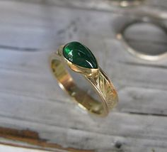 Natural Emerald Ring Size 7 Emerald Wedding by HotRoxCustomJewelry