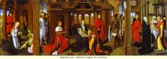 Hans Memling. Triptych: The Nativity, The Adoration of the Magi, The Presentation in the Temple.