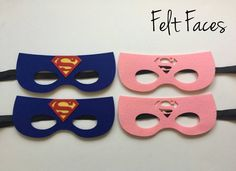 This listing is for a set of 8 Superman/Supergirl Party mask, 4 of each style. Each mask is made of premium felt, with a black elastic band sewn to