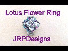 (12) Lotus Flower Ring - Intermediate Left hand Tutorial - YouTube