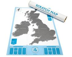 Luckies Scratch Map // United Kingdom & Ireland | The Journal Shop