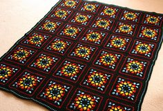 stained glass crochet blanket