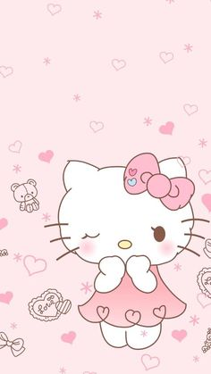 16 New Ideas Wallpaper Iphone Disney Pink Hello Kitty Hello Kitty Iphone Wallpaper, Hello Kitty Backgrounds, Sanrio Wallpaper, Wallpaper Iphone Disney, Kawaii Wallpaper, Walpaper Hello Kitty, Pink Wallpaper, Hello Kitty My Melody, Pink Hello Kitty