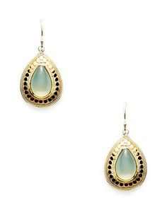 Anna Beck Jewelry Gili Dyed Green Chalcedony Teardrop Earrings