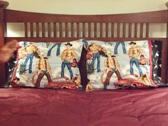 Sexy Cowboys Pillow Cases  Set of 2 by outofourmind on Etsy, $40.00.  How about some Cowboys for Christmas?!!