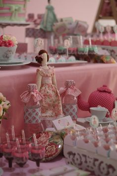 Tilda´s tea party decorations!  See more party ideas at CatchMyParty.com!