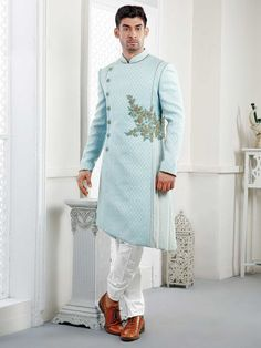 Feb 2020 - Designer Indowestern Sherwani indowestern for men wedding dress for men by PARIVAR on Etsy Wedding Dresses Men Indian, Wedding Dress Men, Wedding Wear, Wedding Suits, Indian Weddings, Farm Wedding, Wedding Couples, Boho Wedding, Wedding Blazers
