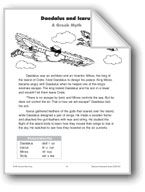 Daedalus and Icarus (A Greek Myth). Download it at Examville.com - The Education Marketplace. #scholastic #kidsbooks @Karen Echols #teachers #teaching #elementaryschools #teachercreated #ebooks #books #education #classrooms #commoncore #examville