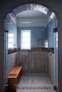 Moroccan tiles bathroom designed by Abbott Moon Design