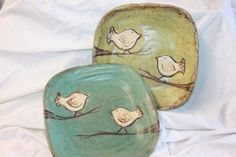 Reminds me of my dishes :) love them from Crate & Barrell Etta B Pottery... love this dish! Too cute!