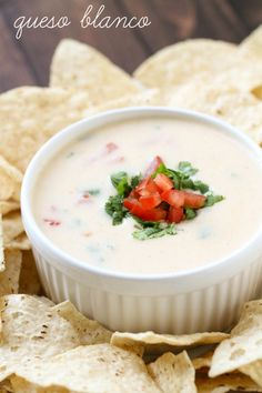 Queso Blanco - a delicious and quick recipe perfect for any party or get together. { lilluna.com } #queso