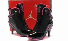 pink black heels jordan 6 ring