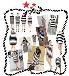 ¡Crea tu propia ropa1 Tutorial paso a paso sobre cómo hacer un vestido de rayas marinero DIY. Patrón incluido para descarga.
