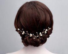 Swarovski perlas boda cabello Parra perla nupcial por FiberStone