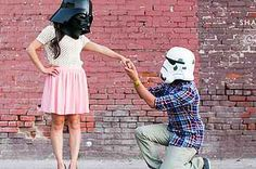 23 Gloriously Geeky Engagements, Star Wars engagement