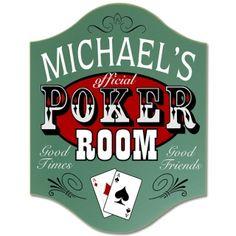Custom Official Poker Room Sign $37.95