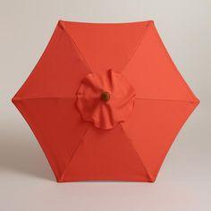 One of my favorite discoveries at WorldMarket.com: 5' Koi Orange Umbrella Canopy $34.99