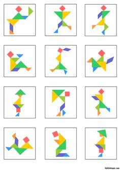 어릴적 칠교놀이 많이 하셨나요?칠교놀이는 창의성 발달공간개념 발달을 촉진할 수 있어요~특히 공... Kindergarten Activities, Preschool Activities, Geometric Shapes Art, Tangram Puzzles, Math Boards, Pattern Drawing, Math Resources, Puzzle Pieces, Pattern Blocks