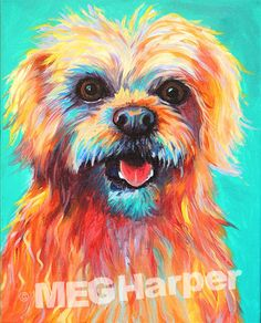 Birdie ~ Pet Dog Portrait ~ Meg Harper — Meg Harper Art  #dog #puppy #best friend #inspirational #kindness #animalpainting #art #painting #pets #petportrait #animal #love #megharper #megharperart
