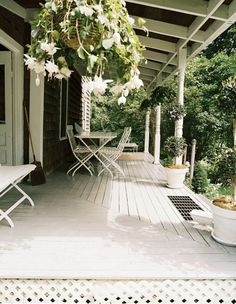perhaps a temporary solution for a porch table.  Could always use later for additional seating when needed.