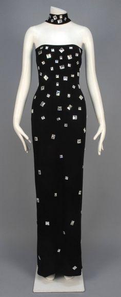 Bill Blass jeweled gown