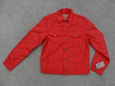 NWT Levi's Nylon Mens Trucker Jacket Aurora Red Sz 2XL $108 Free SHIP | eBay