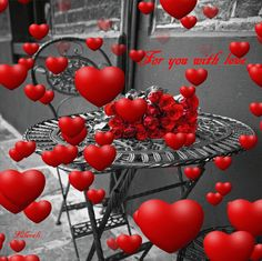 Love in the air! Beautiful Love Pictures, Beautiful Gif, Beautiful Roses, Beautiful Hearts, Good Morning Gif, Morning Images, Good Morning Quotes, Love You Gif, Love You Images