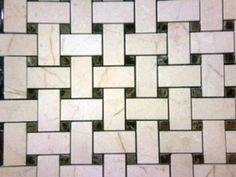 CREMA MARFIL MARBLE BASKET WEAVE MOSAIC WITH DARK EMPERADOR DOTS...  $9.50/SF, C-Line Marble & Granite, Inc.  2100 Jericho Tpke  New Hyde Park, NY 11040  516-742-8886 phone  516-742-8887 fax  www.CLineMarbleAndGraniteInc.com  or follow us on...  www.facebook.com/ClineStoneandTile   or  pinterest.com/clinestone/c-line-stone-and-tile-distributors-represent/