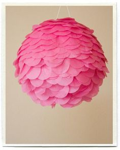 Pink pendant lamp for Maddie