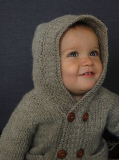 Ravelry: Latte Baby Coat pattern by Lisa Chemery; for my nephew tyler, xmas. Baby Knitting Patterns, Coat Patterns, Knitting For Kids, Knitting Projects, Stitch Patterns, Crochet Patterns, Pull Bebe, Baby Coat, Knit In The Round