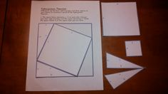 Here's a new #mathstation I made using manipulative to show a proof of the Pythagorean theorem :)