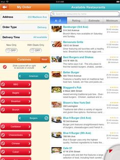 App: Seamless Food Delivery and Takeout for iPad and iPhone.