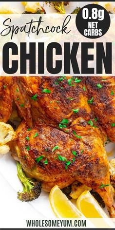 Spatchcock Chicken Recipe In The Oven - The complete guide for how to spatchcock a chicken - super EASY, step by step! Spatchcock roast chicken in the oven turns out perfectly juicy every time. #wholesomeyum Spatchcock Chicken, Roast Chicken, Tandoori Chicken, Keto Diet Review, Keto Diet Plan, Keto Food List, Food Lists, Keto Diet For Beginners, Recipes For Beginners