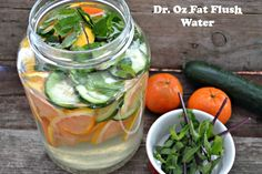 Make Your Own Dr. Oz Fat Flush Water