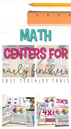 grade Math Centers for the Entire Year Bundle Centers} - Easy Teaching Tools 5th Grade Classroom, 2nd Grade Teacher, Second Grade Math, Classroom Ideas, Simple Math, Easy Math, Teaching Tools, Teaching Ideas, Math Manipulatives