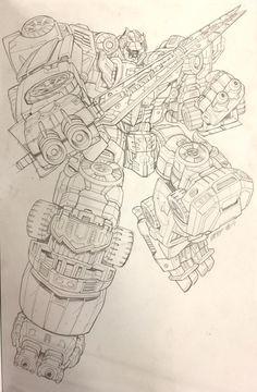 Transformers News: #Botcon2016 Marcelo Matere Original Art for Transformers Titans Return