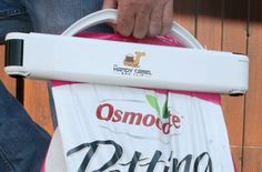 Handy Camel makes it easy to lift and pour bags - without spilling all over!